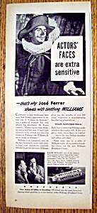 Vintage Ad: 1947 Williams Brushless Cream W/jose Ferrer