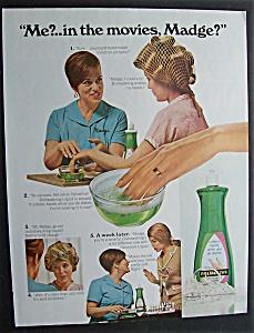 Vintage Ad:1968 Palmolive Dishwashing Liquid with Madge (Image1)