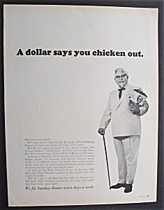 Vintage Ad:1967 Kentucky Fried Chicken With The Colonel