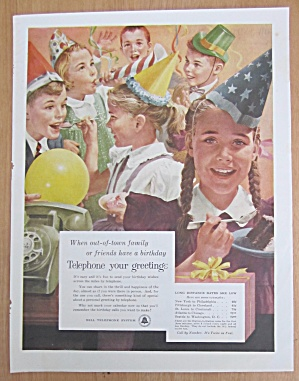 1956 Bell Telephone System with Kid's Birthday Party  (Image1)