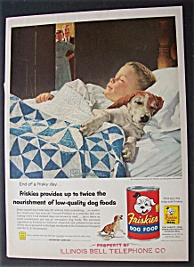 Vintage Ad: 1956 Friskies Dog Food By Douglas Crockwell