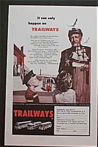 1959 Trailways with Man Talking to 2 Children (Image1)