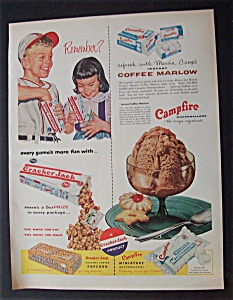 1956 Cracker Jack & Campfire Marshmallows