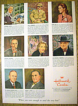 1953 Hallmark Cards w/Rockwell, Churchill & More (Image1)