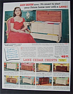1954 Lane Cedar Chests With Ann Blyth