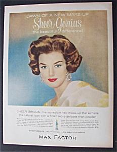 1960  Max  Factor  Sheer  Genius  Make - Up (Image1)