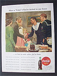 1944 Coca-Cola (Coke) with Two Sailors Meeting a Man (Image1)
