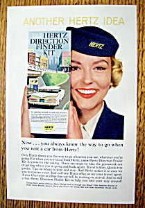 1959 Hertz Rent A Car w/ Woman Holding Direction Finder (Image1)