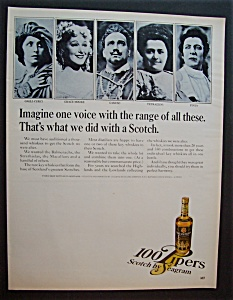 Vintage Ad: 1966 100 Pipers Scotch with Caruso (Image1)