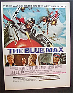 1966 Movie Ad For The Blue Max