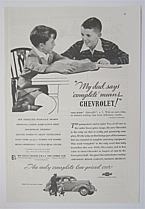 1936 Chevrolet with Two Boys Talking At Table  (Image1)