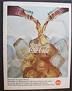 1966 Coca Cola (Coke) w/2 Bottles & A Glass (Image1)