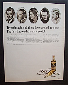 100 Pipers Scotch With Clark Gable & Others