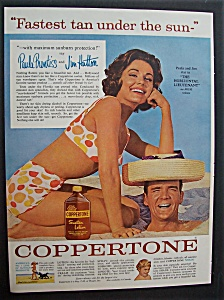 1962 Coppertone Lotion With Paula Prentiss & Jim Hutton