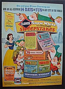 Vintage Ad: 1967 Clorox with Snow White & Dwarfs (Image1)