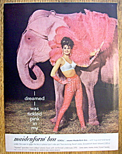 1962 Maidenform Bra with Woman Standing with Elephant (Image1)