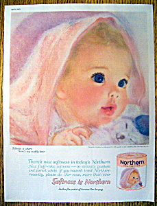 Vintage Ad: 1961 Northern Toilet Tissue (Image1)