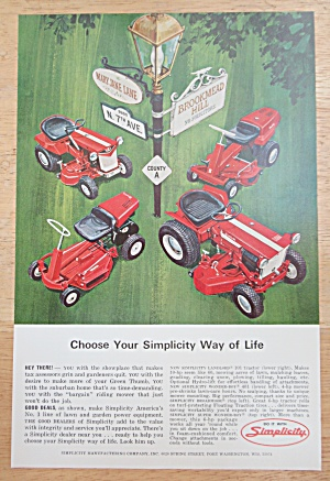 1966 Simplicity Lawn Mowers with Variety Of Lawn Mowers (Image1)