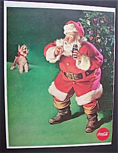 1961 Coca Cola with Santa Claus & Dog (Image1)
