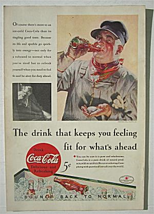 1934 Coca Cola (Coke) with Train Conductor (Image1)