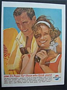 1963 Pepsi-Cola (Pepsi) with Man & Woman Holding Bottle (Image1)