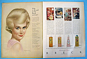 Vintage Ad: 1963 Breck Shampoo with Breck Woman (Image1)