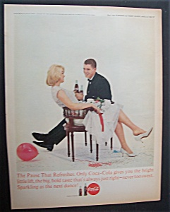 1963 Coca Cola (Coke) With A Man & Woman Sitting