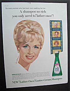 1963 Lustre Creme Shampoo with Star Debbie Reynolds (Image1)