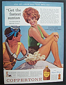 1963 Coppertone Lotion with Jill St. John & Tony Bill (Image1)