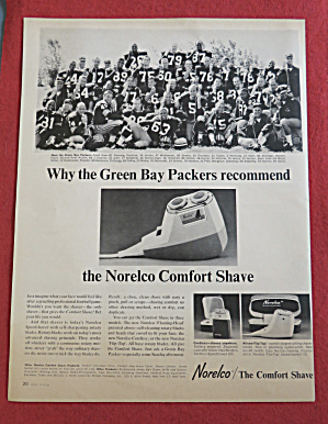 1964 Norelco Comfort Shave With Green Bay Packers