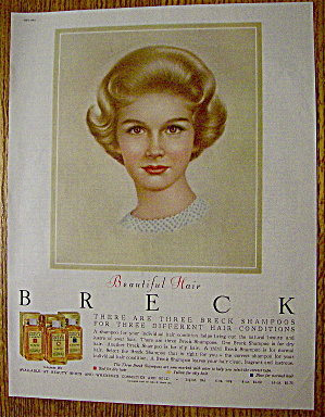 1961 Breck Shampoo with Brown Eyed Breck Woman (Image1)
