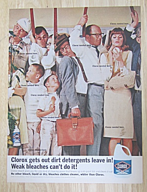 1965 Clorox Bleach with People Crowded on a Train (Image1)
