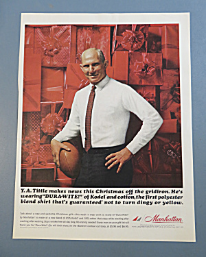 1963 Manhattan Shirts With Y. A. Tittle