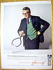 Vintage Ad: 1963 Smirnoff Vodka with Steve Allen (Image1)