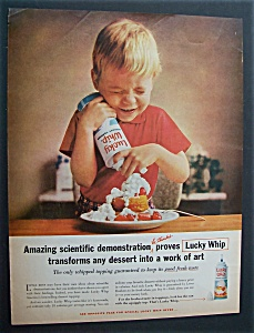 1961 Lucky Whip Dessert Topping