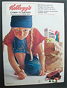 Vintage Ad: 1965 Kellogg's Corn Flakes (Image1)