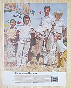 1968 Clorox Bleach with Family & Their Cow at the Fair  (Image1)