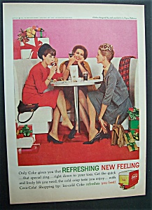 1962 Coca Cola (Coke) With 3 Women Having Lunch