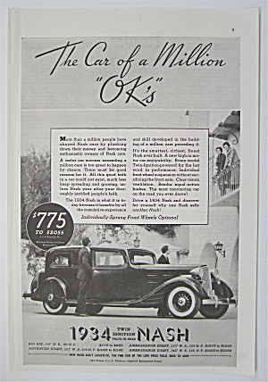 1934 Twin Ignition Nash with Women Looking At Car  (Image1)