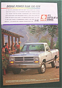 Vintage Ad: 1988 Dodge Power Ram 100 4 X 4