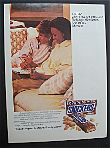 Vintage Ad: 1988 Snickers Candy Bar