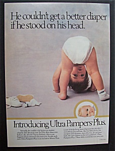 1988  Ultra  Pampers  Plus  Diapers (Image1)