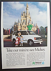 1988 National Car Rental With Mickey Mouse