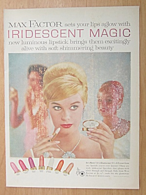 1959 Max Factor Iridescent Magic Lipstick w/ Woman  (Image1)