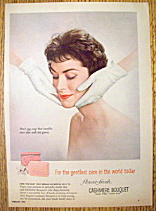 1959 Cashmere Bouquet Soap with Woman's Face (Image1)