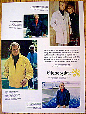 1975 Gleneagles With Golfer Jack Nicklaus