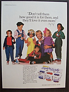 Vintage Ad: 1990 Light n' Lively Yogurt w/ Cheryl Tiegs (Image1)