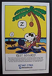 1987 Metropolitan Life Insurance Company w/Snoopy & Sun (Image1)