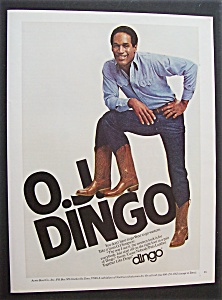 1980 Dingo Boots with Football Player O. J. Simpson (Image1)