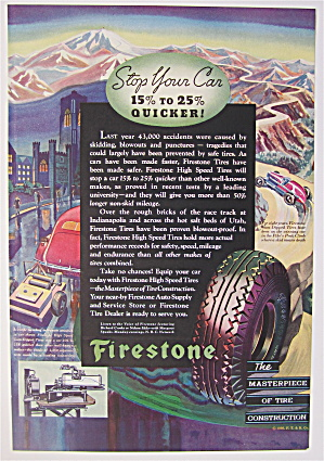 1936 Firestone Tires With Tires